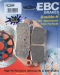 "STREET TRIPLE 675 ""Naked"" 2007-11: ""FULL FRONT SET"" EBC Sintered ""HH"" Brake Pads [FA226HH =2xpair]"